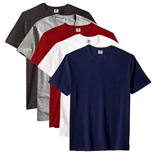 Kit com 5 Camiseta Masculina Básica Algodão Premium (Noronha, M)