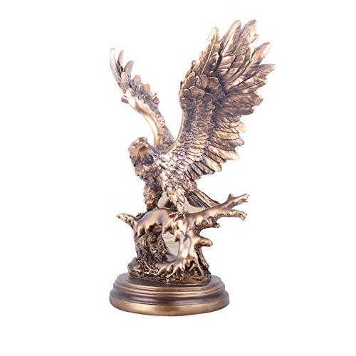 QIBAJIU Statuen Skulpturen Kreative Adler Figur Dekoration Büro Desktop Harz Kunsthandwerk Ornamente Geschenkschrank Inneneinrichtung Handwerk