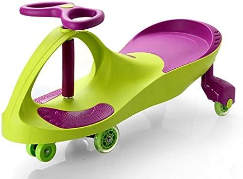 Kinder Twist Auto Baby Spielzeug Schaukel Auto Baby Slide Yo Auto Silent Wheel Alter 3 Jahre alt oder  er 81  30.5  41.5cm (Farbe   Grün)