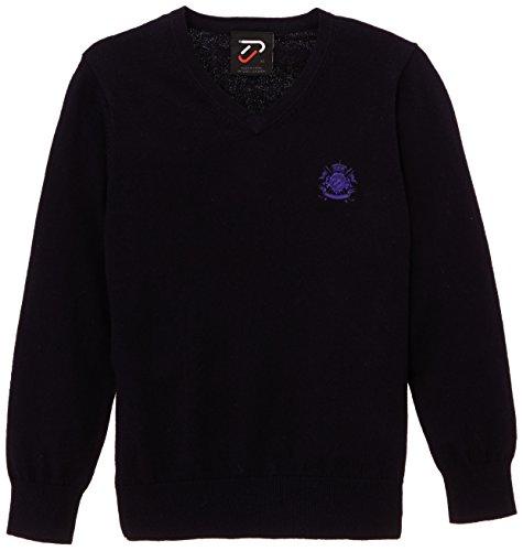 IJP Design Golf Kinderpullover con Scollo a V - Crest V, Blu (Marine Blau), 8 Anni