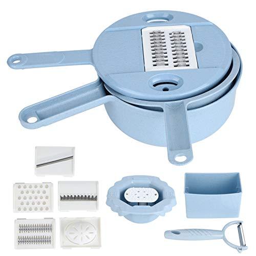 Trituradora de alimentos Rallador de patatas Picadora de alimentos Cortador manual de verduras Picadora de verduras Accesorio de cocina Rallador de patatas y verduras