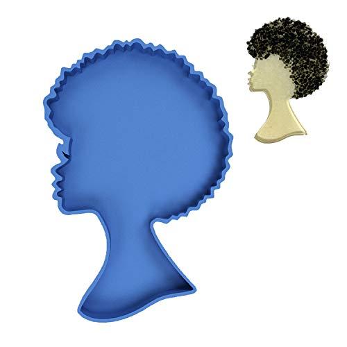 Afro-weibliche Silikonharz-Form, Kopf-Schönheit, Untersetzer