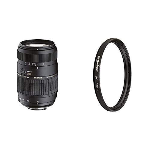 Tamron AF017NII-700 AF 70-300mm 4-5,6 Di LD Macro 1:2 digitales Objektiv mit Built-In Motor für Nikon & AmazonBasics UV-Sperrfilter - 62mm