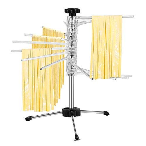 Nudeltrockner Pasta Trockner Faltbare Nudeln Trockenstaender Trocknen Gestell Rutschfester Nudelständer Kompaktes Rotationssystem Küchenhelfer zum Trocknen Selbstgemachter Pasta Rack