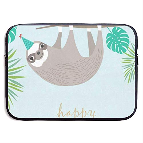 13 Inch Laptop Sleeve Briefcase Sloth Happy Birthday Best Neoprene Waterproof Handbag Protective Bag Cover Case for Surface Laptop/Notebook/Acer/Asus/Dell/Lenovo/iPad/Surface Book