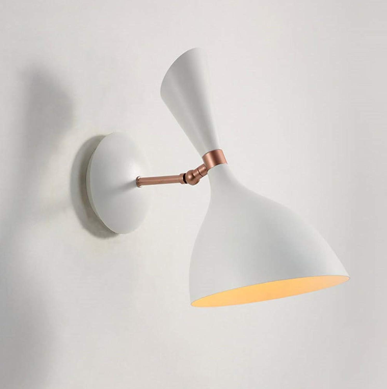 Tossi EinfachNordic Eisen Wandleuchte, Moderne Minimalistische Drehbare Lampe Arm Nachttischlampe für Wohnzimmer Hintergrund Wand Porch Licht,Weiß,Weißlight