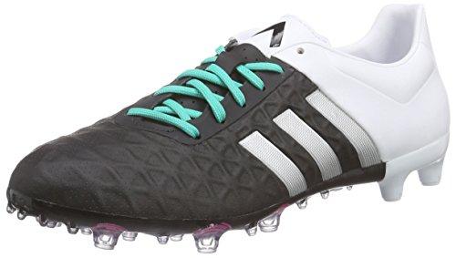 adidas Ace 15.2 FG/AG, Botas de fútbol Hombre, Negro/Plateado/Blanco (Negbas/Plamat/Ftwbla), 42 🔥