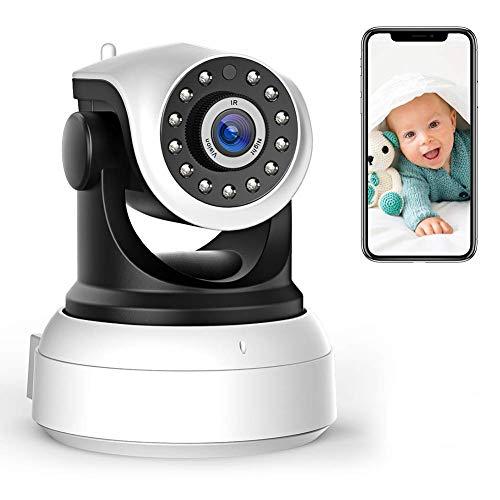 HYLH 1080P WLAN Kamera mit Nachtsicht,Uuml;berwachungskamera WLAN IP Kamera Indoor,Smart Home WiFi Kamera,2-Way Audio,App Kontrolle Haus Monitor Haustier Kamera,Modell 8003
