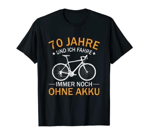 70. Geburtstag Geschenk Fahrrad Rennrad Spruch 70 Jahre T-Shirt