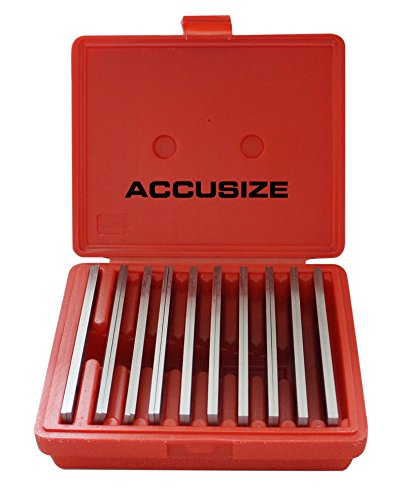 Accusize Industrial Tools 1/8'' x 6'' (Thickness x Length) Precision Parallel Sets, 10 Pairs/Set, EG10-1400