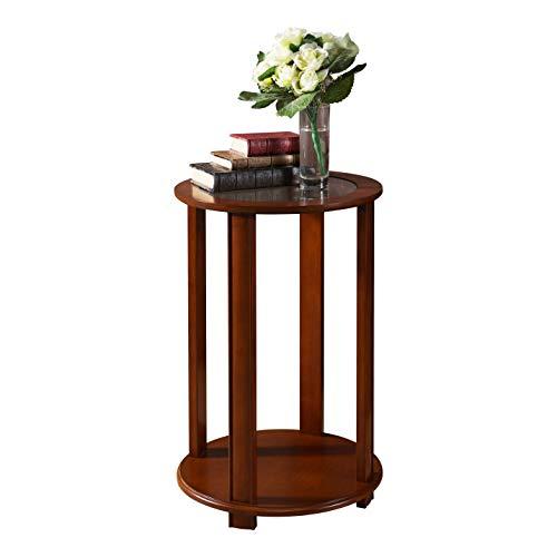 Pilastra diseños–acabado en nogal madera Accent lado mesita auxiliar, plant función atril