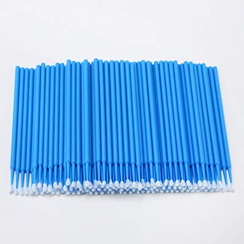 Ssg 100PCS Tattoo Cotton Swab Lint Fournitures Brosse Microblading Micro Brosses Applicateur Tattoo Accessoires for le maquillage Nouveau (Color : Light Blue)