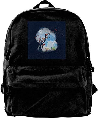 Homebe Mochila antirrobo Impermeable,Canvas Backpack Spirited Away Sumie Style Rucksack Gym Hiking Laptop Shoulder Bag Daypack for Men Women