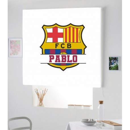 Estor Iroa Digital con Nombre Futbol Barcelona ¡ESTORES ENROLLABLES TRANSLUCIDOS Personalizado con Nombre! (150X170, Tejido Translucido)