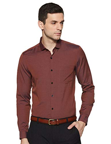 Excalibur Men's Formal Shirt (8907542771028_400016760705_40_Rust)