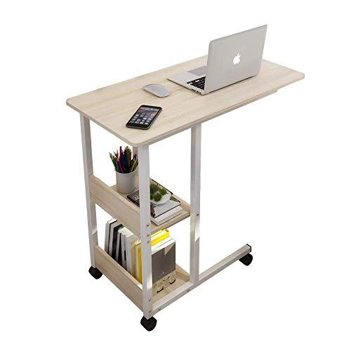 角度調節テーブル 昇降式サイドテーブル パソコンデスク ミニテーブル ソファーサイド キャスター付き ノートパソコンスタンド