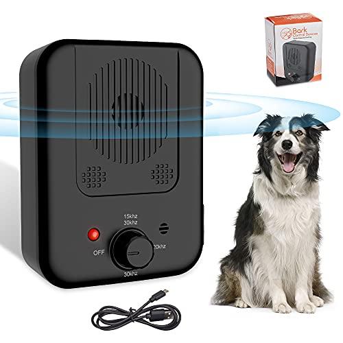 ultpeak Antibell für Hunde, Antibell Halsband Hund, Automatisches Ultraschall Hunde Anti Bellen Gerät Sicher, Wasserdichter Anti-Bell-gerät Wiederaufladbares Antibell für Hunde