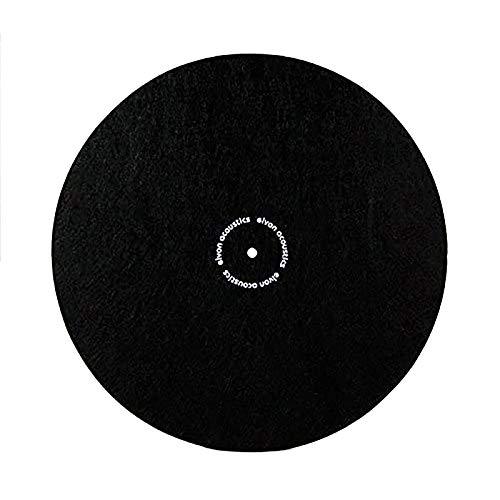 Nobsound LP Vinyl Turntable Slipmat Record Wool Pad Anti-static Anti-vibration Black Mat