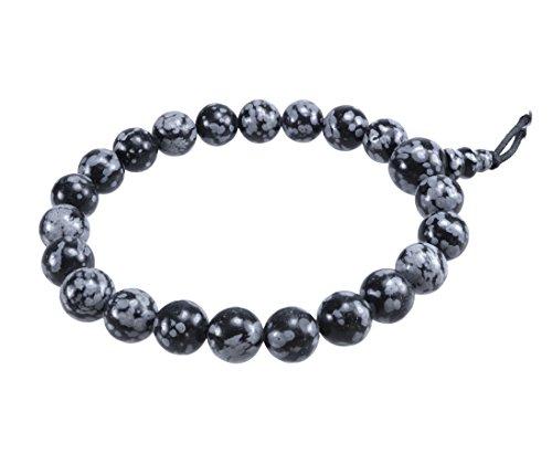 Lebensquelle Plus Schneeflocken-Obsidian Powerarmband Edelstein Armband