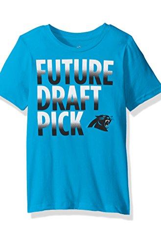 "NFL Boys 4-7 ""Future Draft Pick"" Short Sleeve Tee-Blue-M(5-6), Carolina Panthers"