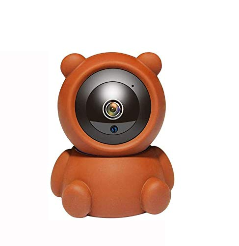 GIHI Orsetto Videocamera di Sicurezza Baby Monitor Sicurezza Domestica WiFi Baby Monitor con videocamera e Audio Visione Notturna HD Tracciamento Automatico vocale bidirezionale,128GB