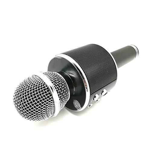 RENJUN Las Noches de Karaoke y los Altavoces de micrófono inalámbricos de Karaoke para Fiestas Familiares Permiten Que los mezcladores y los Altavoces se diviertan. micrófono (Color : Black)