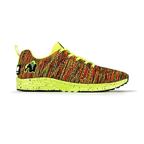 Gorilla Wear Brooklyn Knitted Sneakers - Neon Mix - Bodybuilding und Fitness Schuhe für Damen und Herren, EU 46