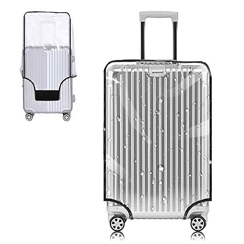 Yotako Clear PVC Suitcase Cover Protectors 20 24 28 30 Inch Luggage Cover for Wheeled Suitcase (28''(18.9''L x 12.6''W x 26.4''H))