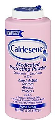 Caldesene Medicated Protecting Powder with Zinc Oxide & Cornstarch-Talc Free, 5 Ounce