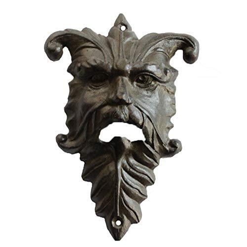 XDRESZ Escultura Estatuabar Decoración para Colgar En La Pared Anciano Cabeza Y Hojas Decoración De Cocina Sacacorchos