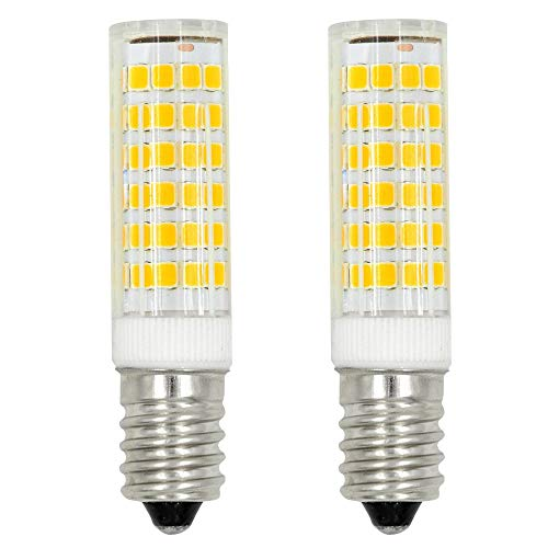 MENGS 2 Stück E14 LED Lampe 7W AC 220-240V Warmweiß 3000K 75x2835 SMD Mit ACRYLIC und Keramik Mantel