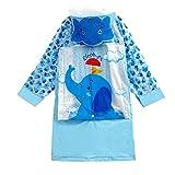 weichuang Chubasquero impermeable para niños con dibujos animados, impermeable, para niñas y niños, impermeable, poncho impermeable (color: azul, talla: XXXL)