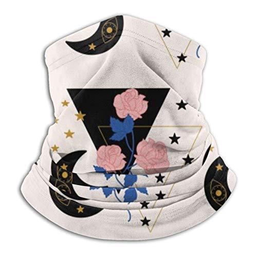 Zhouzl Geometric Elements, Rosa Rosen und Sellerie Fa-c-e M-a-sk – Halstuch, Fa-c-e Schal / Fa-c-e C-ove-r Kopfbedeckung Fa-c-e Bandana M-a-sk Sport Schal