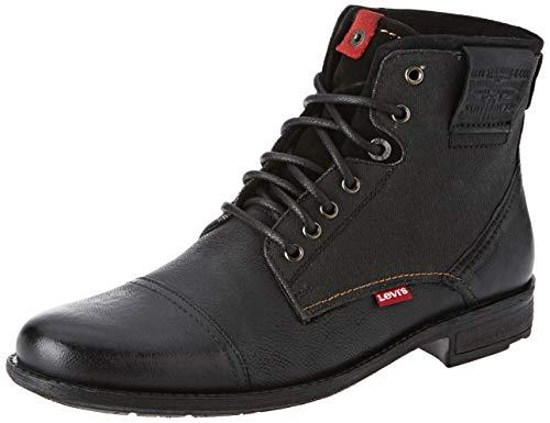 Levi's Herren Fowler Biker Boots, Schwarz (Noir Regular Black 59), 43 EU