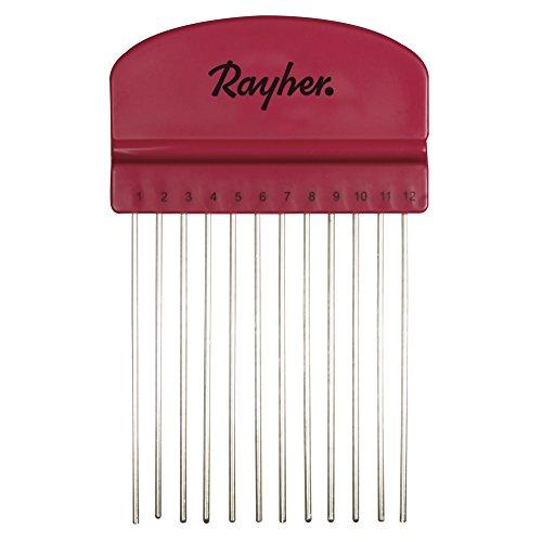 Rayher 71934000 Quilling Peigne, 10,5 x 6,5 cm, avec 12 Branches, sous blister 1stüc