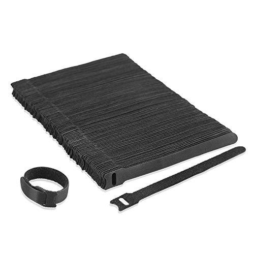 Klettverschluss Nylon Kabelbinder Kabel Klettband PC TV USB wiederverwendbar Befestigungsbinder 100 Stück