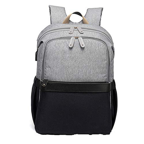 Mummy Bag Rucksack Multifunktions-Reisetasche Mit Großem Fassungsvermögen Milchvater Krankenschwester Aus Dem Rucksack Schwarze Asche