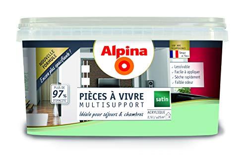 ALPINA Pièce à vivre - Vert d'eau 2,5L 25m²