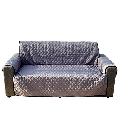 POPETPOP Komfortable Sofa Schonbezug Wasserdicht Haustiere Hund Katze Sofa Stuhlbezug Möbel Protector 260x180 cm (Silber Grau, Einzelsitz)