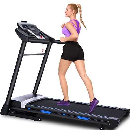 ANCHEER Treadmill, 3.25Hp App Control Folding Treadmill with Automatic Incline and Bluetooth Speaker,300 lbs Weight Capacity, Best Walking Running Heavy Duty Treadmills for Home Gym Office Use