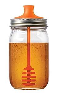 Fox Run Jarware 82623 Honey Dipper Lid for Regular Mouth Mason Jars, Orange, 16-Ounce (B01410LSP0) | Amazon price tracker / tracking, Amazon price history charts, Amazon price watches, Amazon price drop alerts