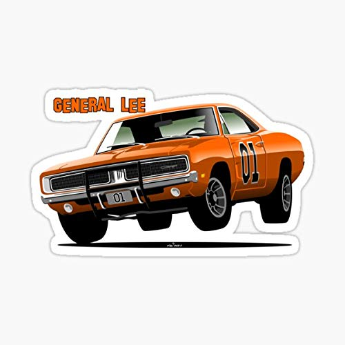 General Lee Dodge Charger Sticker - Sticker Graphic - Auto, Wall, Laptop, Cell, Truck Sticker for Windows, Cars, Trucks