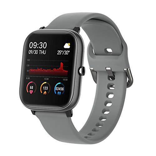 RongWang Reloj Inteligente Deportivo Resistente al Agua con frecuencia de Pulsera Compatible con Android iOS (Color : Gray)