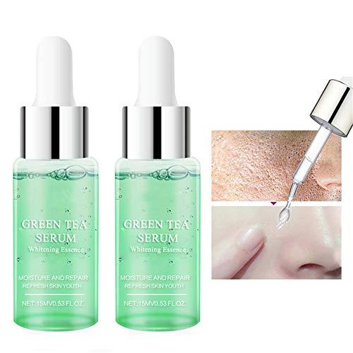 CHERITY Green Lough Pore Corset Serum, Bio Grüntee Extrakt Flüssigkeitstropfen, Porenminimierende Serum Feuchtigkeitscreme für Das Gesicht Feuchtigkeitsspendende Whitening Essenz (1 pcs)