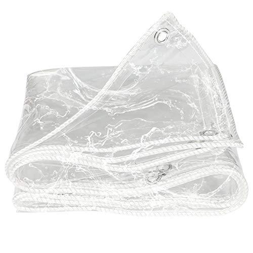 Byrotson Lona Transparente, Impermeables Protector Toldos Transparentes De 0.4Mm De Espesor, Lona de Protección Lona Alquitranada Anti-Desgarro con Ojales para Jardín, Muebles, Invernadero,2x3m