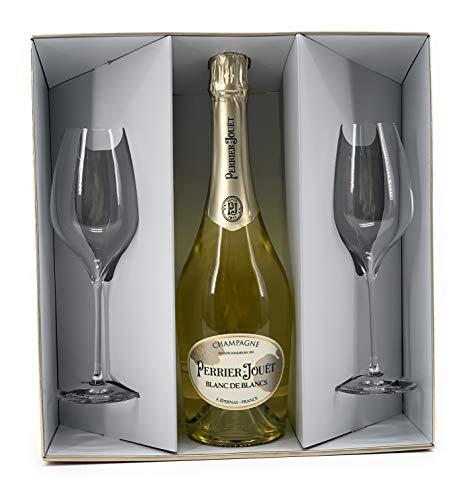 Perrier Jouet Blanc de Blanc No Vintage Geschenkset mit 2 Gläsern