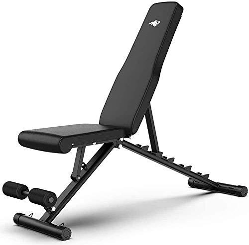 EW&HU Banco de pesas ajustable Banco de peso ajustable Utilidad plegable Banco de entrenamiento de fuerza para el gimnasio en el hogar, entrenamiento de cuerpo completo, sentarse inclinado