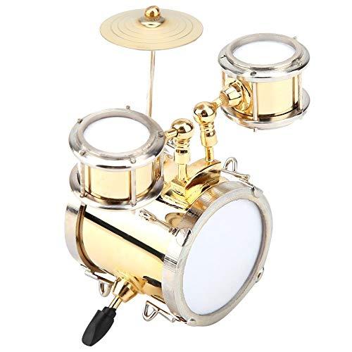Hilitand Miniatur Musikinstrument Replica Drum Set Ornament SchlagzeugerGeschenk Kinder DREI Trommel Modell Dekoration