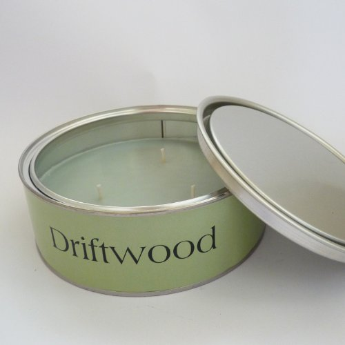 Pintail Large Scented Triple Wick Candle in Tin - Driftwood