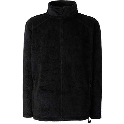 Fruit of the Loom Herren Full Zip Fleece Sweatshirt, Schwarz (Black), X-Large